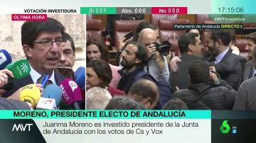 Juan Marín, presidente de Ciudadanos en el Parlamento de Andalucía