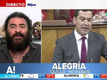 """La rima de El Sevilla para analizar la investidura de Moreno: """"El andalucismo necesita el 'Susanismo', aunque el 'Sanchismo' no opine lo mismo"""""""