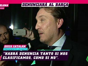 El Levante confirma que denunciará al Barça por alineación indebida en Copa del Rey