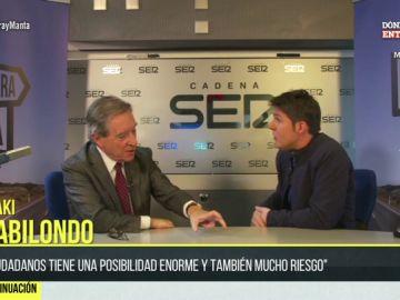 Jesús Cintora entrevista a Iñaki Gabilondo