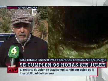 El experto en Espeleología José Antonio Berrocal