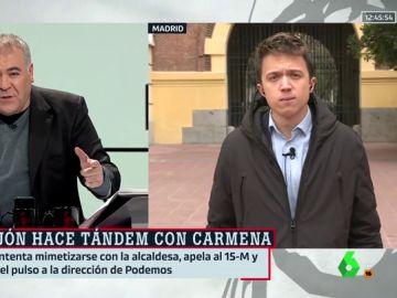 Antonio García Ferreras e Íñigo Errejón