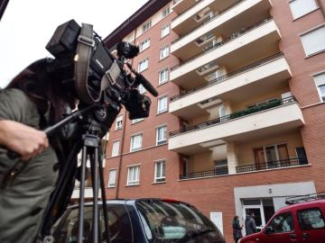 Imagen del edificio del barrio bilbaíno de Atxuri donde se ha registrado el suceso