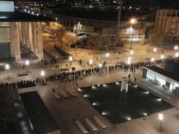 Protesta contra el mitin de Vox en Zaragoza.