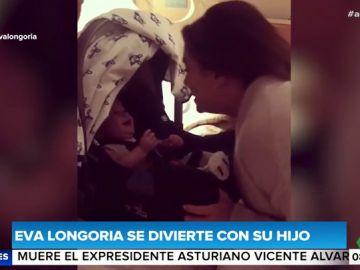 El divertido vídeo de Eva Longoria jugando con su hijo de siete meses