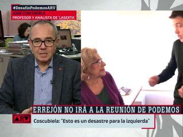 """Joan Coscubiela, sobre el conflicto entre Iglesias y Errejón: """"Esto es un desastre para Podemos. Es probable que la gran beneficiada sea la derecha madrileña"""""""