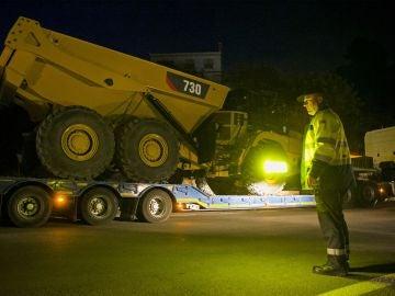Un vehículo de maquinaria especial durante los trabajos para rescatar a Julen