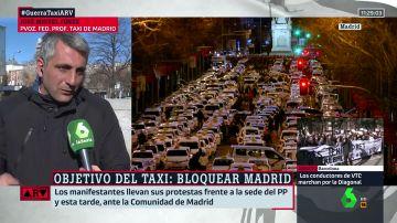 Portavoz de los taxistas en Madrid