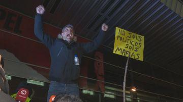 Protesta de los taxistas en Madrid