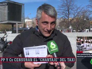 """El portavoz de la Federación Profesional del Taxi en Madrid responde a Rivera: """"Queda constancia de que se dirige para los intereses del Ibex"""""""