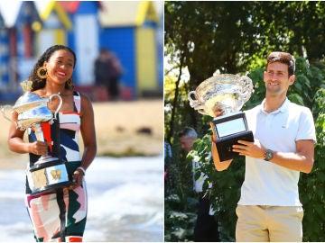 Naomi Osaka y Novak Djokovic, campeones del Open de Australia 2019