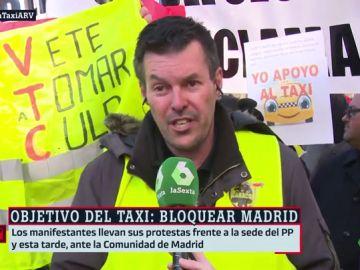 Portavoz de los taxistas