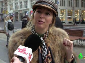 Mujer en el centro de Madrid