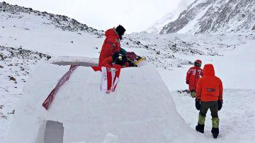 Parte de la expedición de Alex Txikon en el K2