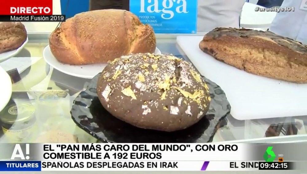 Un bollo de 400 gramos con láminas de oro y plata: así es el pan que cuesta 192 euros, el más caro del mundo