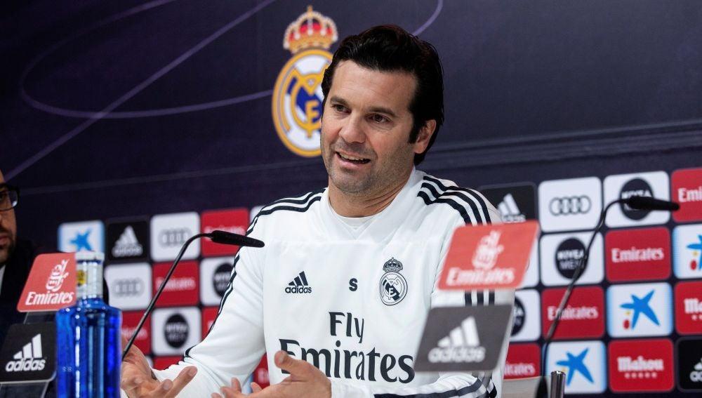 Santiago Solari, en rueda de prensa