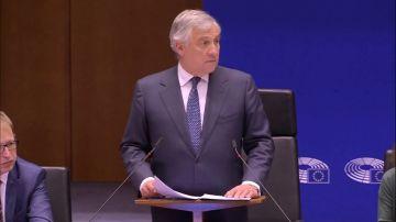 Antonio Tajani en el Parlamento Europeo