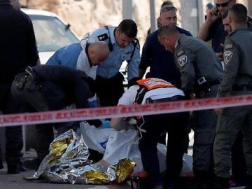 Mujer palestina muerta