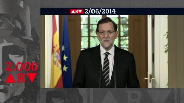 Mariano Rajoy anunció la abdicación del rey Juan Carlos en su hijo Felipe