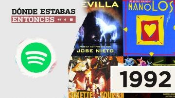 Lista reproducible: Los Manolos, José Feliciano o Roxette, entre los éxitos de Dónde estabas entonces 1992