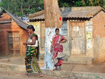 Mujeres en una aldea de Orissa