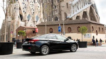 Uber estacionado en Barcelona