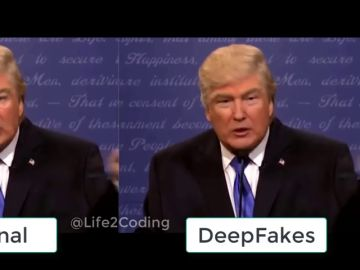 Donald Trump en una 'deep fake'