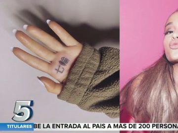 El error de traducción al japonés en el tatuaje de Ariana Grande que se ha hecho viral
