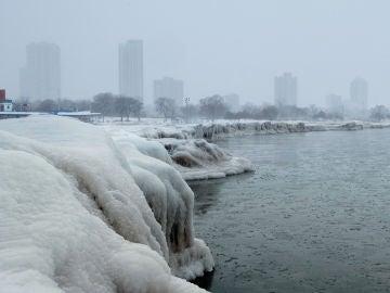 Frío extremo en Chicago por la rotura del vórtice polar