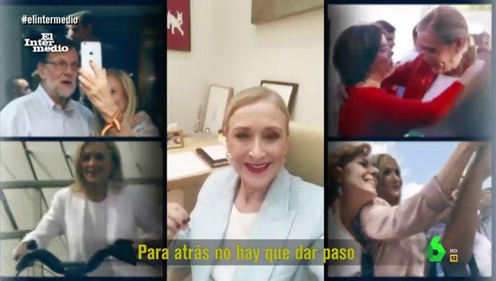 """Así fue el 'temazo' de Cristina Cifuentes que arrasó en fiestas de la URJC: """"No me voy, me quedo"""""""