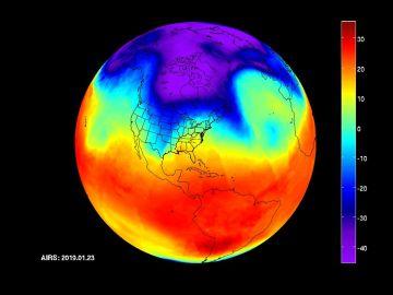 Imágenes capturadas por la sonda de infrarrojos de la NASA