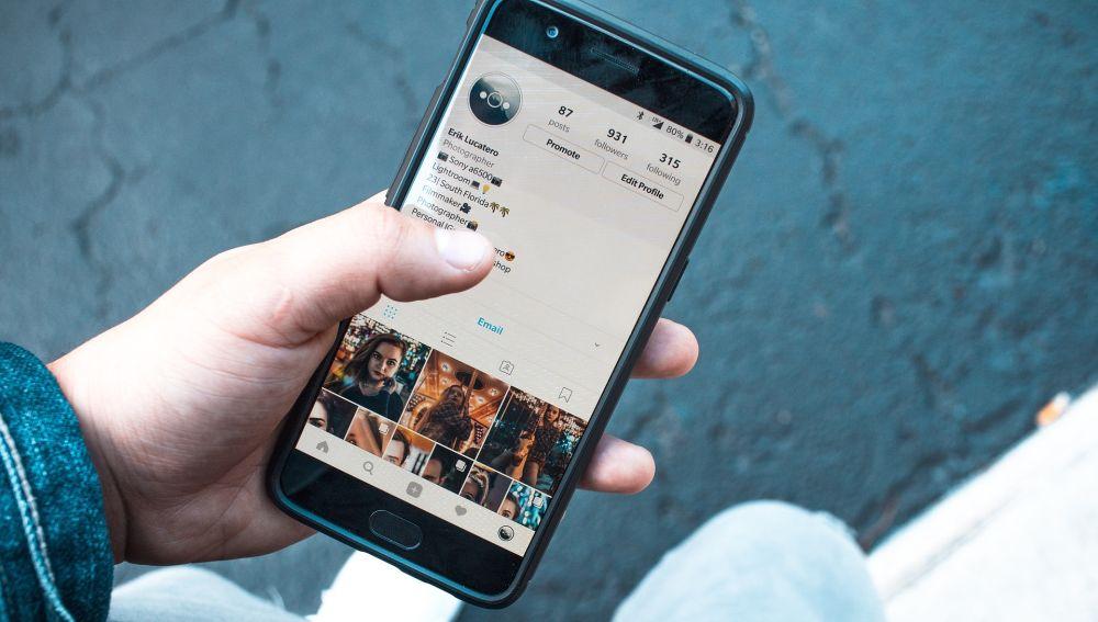 Imagen de un perfil de Instagram (Archivo)