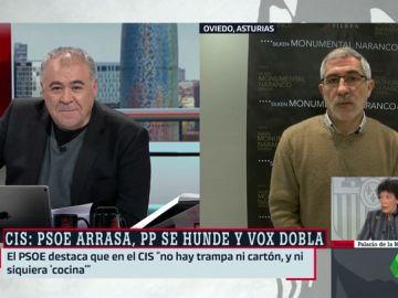 """El mensaje de Llamazares tras abandonar IU: """"Discrepo con ellos y con Podemos, están dando portazos y echando a gente"""""""