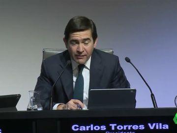 """Carlos Torres defiende la inocencia del anterior presidente del BBVA: """"Yo creo en Francisco González"""""""