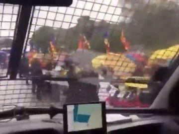 Polémica por este vídeo grabado en un furgón de la Guardia Civil que traslada a los presos independentistas