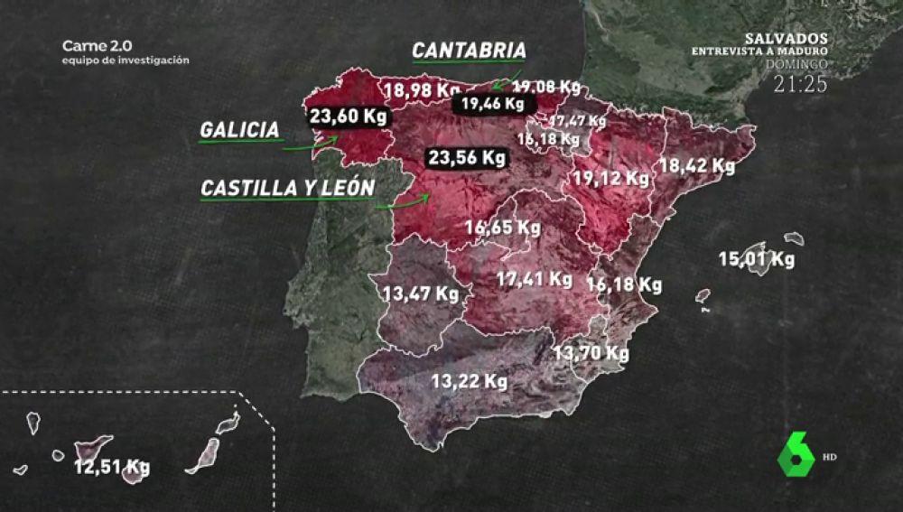 España, un país carnívoro: cada español come de media al año casi 50 kilos de carne