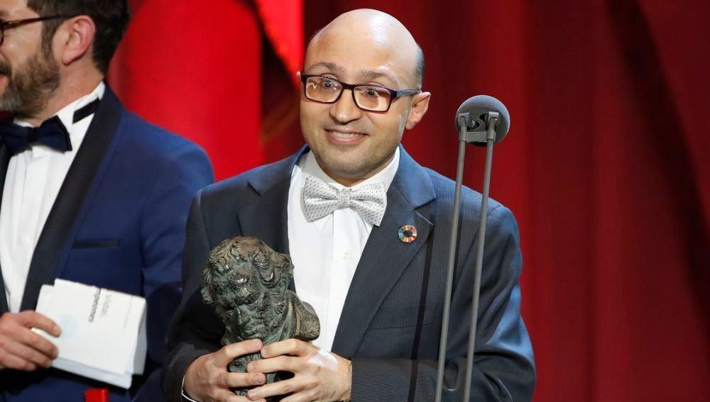 Jesús Vidal con su Goya a Mejor Actor Revelación