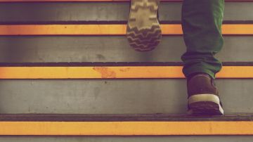 Escaleras persecución