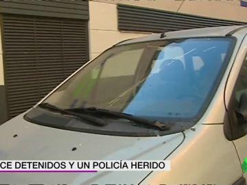La Policía ha detenido en Valencia a once aficionados del Getafe por alteración del orden público
