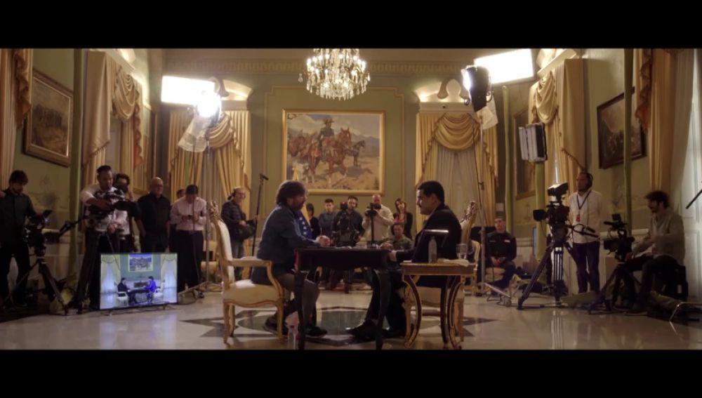 El mensaje de Nicolás Maduro a Juan Guaidó en Salvados delante de Jordi Évole