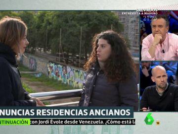 Cristina, cuya madre ha sido golpeada en una residencia