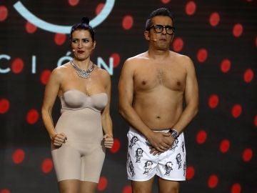 Silvia Abril y Andreu Buenafuente durante la gala de los Premios Goya 2019