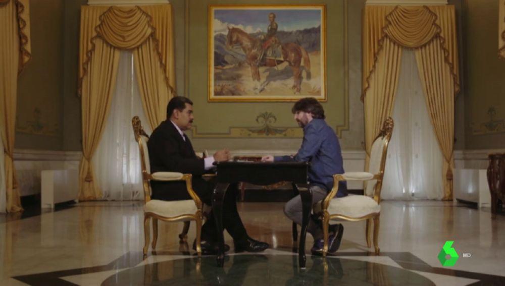 Nicolás Maduro con Jordi Évole