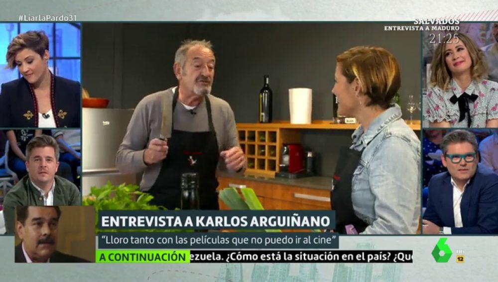 Karlos Arguiñano y Cristina Pardo
