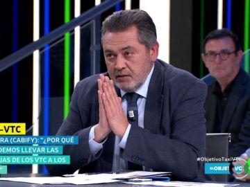 Julio Sanz, presidente de Federación del Taxi
