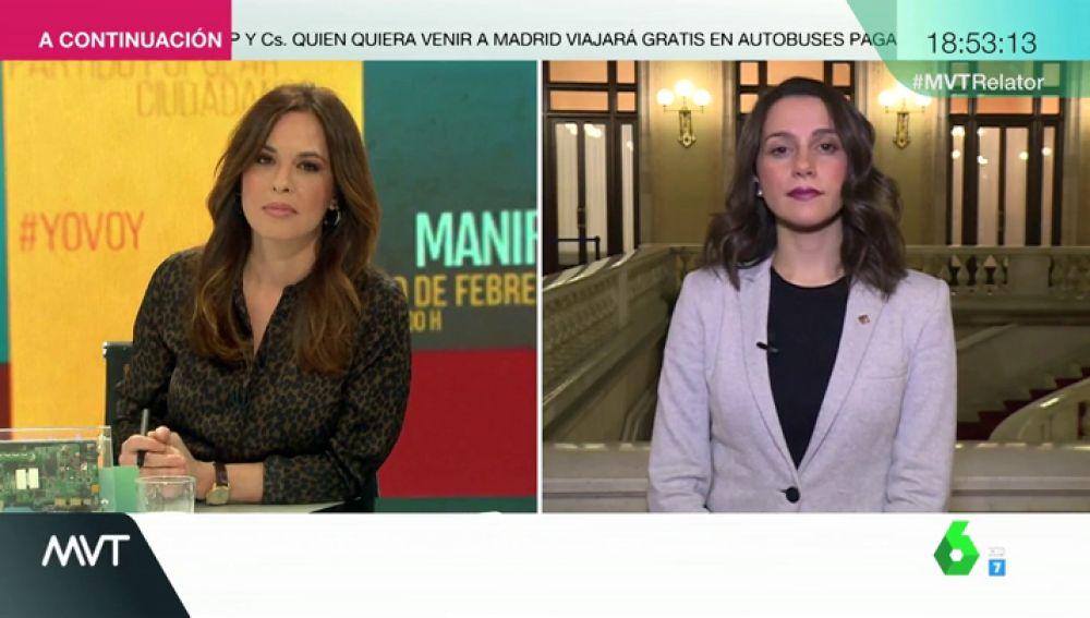 Entrevista a Inés Arrimadas en Más Vale Tarde