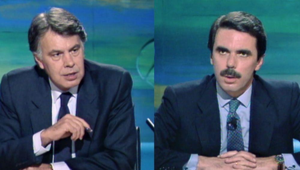 Felipe González contra Aznar: así fue el primer debate televisado