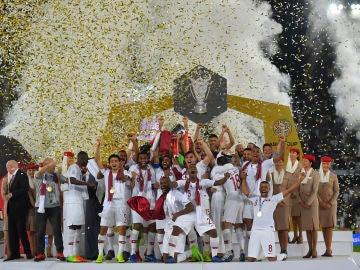 Catar celebrando su victoria en la Copa Asia