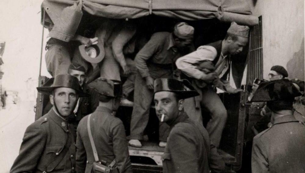 Prisioneros del sector de Brunete en Navalcarnero