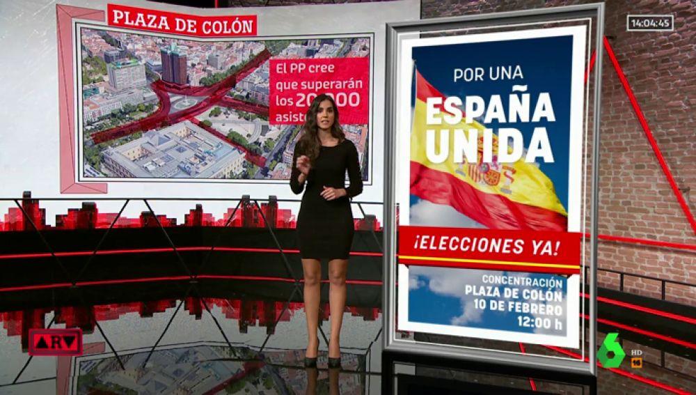 Detalles de la manifestación en Colón